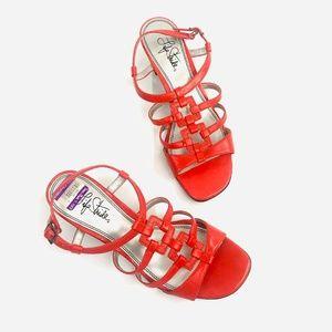 Life Stride Orange Strappy Sandals